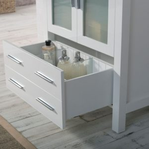 "Sydney Modern 30"" Bathroom Vanity Set with Mirror Glossy White"
