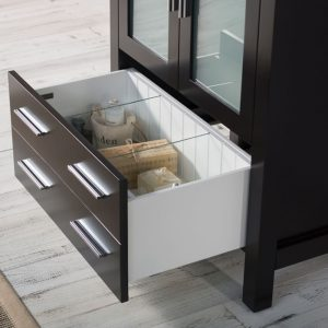 "Sydney Modern 30"" Bathroom Vanity Set with Mirror Espresso"