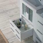 Sydney Modern 36″ Bathroom Vanity Set with Side Cabinet Glossy White