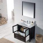 Sydney Modern 36″ Bathroom Vanity Set with Mirror Espresso