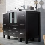 Sydney Modern 48″ Bathroom Vanity Set with Double Side Cabinets Espresso