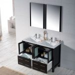 Sydney Modern 48″ Double Bathroom Vanity Set with Mirrors Espresso