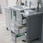 Sydney Modern 48″ Bathroom Vanity Set with Double Side Cabinets Metal Gray