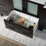 Sydney Modern 54″ Bathroom Vanity Set with Double Side Cabinets Espresso