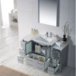 Sydney Modern 54″ Bathroom Vanity Set with Double Side Cabinets Metal Gray