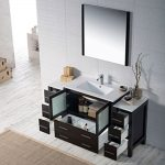 Sydney Modern 60″ Bathroom Vanity Set with Double Side Cabinets Espresso