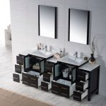 Sydney Modern 84″ Bathroom Vanity Set with Double Side Cabinets Espresso