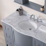 Rome 48″ Charcoal Gray Bathroom Bathroom Vanity Set with White Carrara Marble Top
