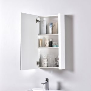 "Milan Modern 20"" Glossy White Bathroom Vanity Set with Medicine Cabinet"