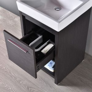 "Milan Modern 20"" Silver Grey Bathroom Vanity Set with Mirror"