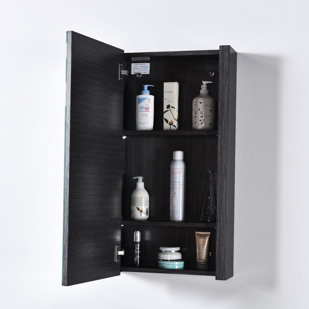 """Milan Modern 20"""" Silver Grey Bathroom Vanity Set with Medicine Cabinet"""