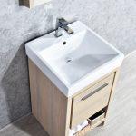Milan Modern 20″ Briccole Oak Bathroom Vanity Set with Mirror