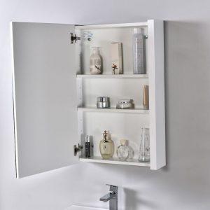 "Milan Modern 24"" Glossy White Bathroom Vanity Set with Medicine Cabinet"