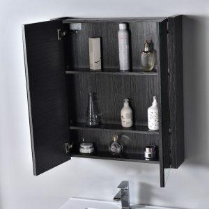 "Milan Modern 30"" Silver Grey Bathroom Vanity Set with Mirror"