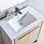 Milan Modern 30″ Briccole Oak Bathroom Vanity Set with Mirror