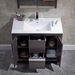 Milan Modern 36″ Silver Grey Bathroom Vanity Set with Mirror