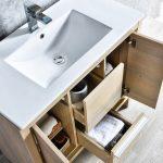 Milan Modern 36″ Briccole Oak Bathroom Vanity Set with Mirror