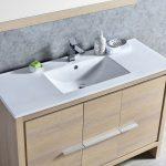 Milan Modern 48″ Briccole Oak Bathroom Vanity Set with Mirror