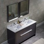 Milan Modern 60″ Silver Grey Double Bathroom Vanity Set with Mirrors
