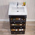 Bordeaux 24″ Espresso Bathroom Vanity Set with Mirror and White Carrara Marble Countertop