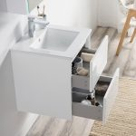 Valencia Modern 20″ Bathroom Vanity Set with Medicine Cabinet Glossy White