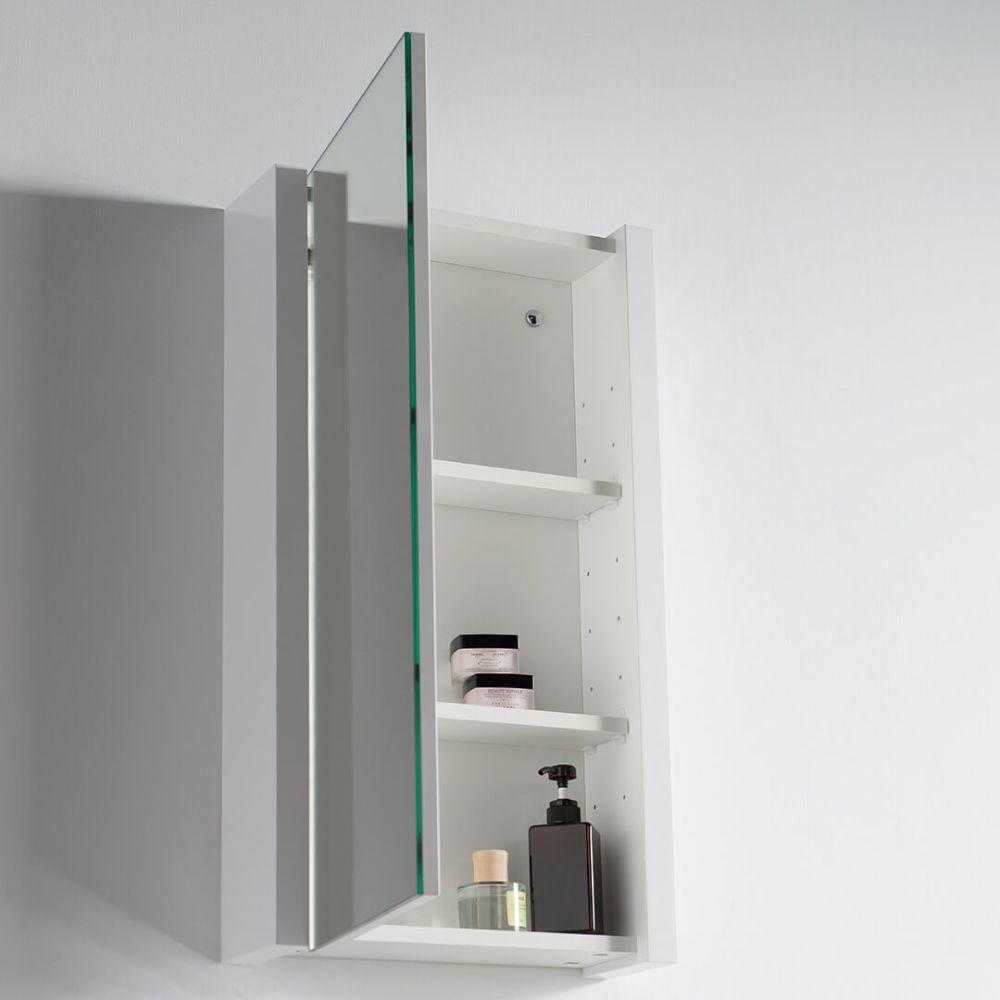 "Valencia Modern 20"" Bathroom Vanity Set with Medicine Cabinet Glossy White"