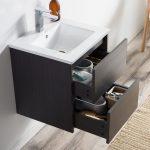 Valencia Modern 20″ Bathroom Vanity Set with Medicine Cabinet Silver Gray