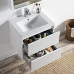 Valencia Modern 24″ Bathroom Vanity Set with Medicine Cabinet Glossy White