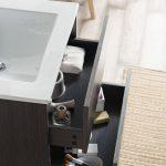 Valencia Modern 24″ Bathroom Vanity Set with Medicine Cabinet Silver Gray