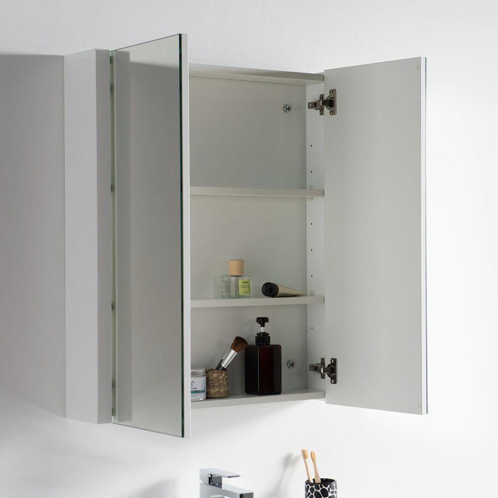 "Valencia Modern 30"" Bathroom Vanity Set with Medicine Cabinet Glossy White"