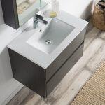 Valencia Modern 30″ Bathroom Vanity Set with Medicine Cabinet Silver Gray