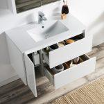 Valencia Modern 36″ Bathroom Vanity Set with Medicine Cabinet Glossy White