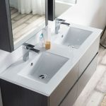 Valencia Modern 48″ Double Bathroom Vanity Set with Medicine Cabinet Silver Gray