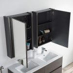 Valencia Modern 48″ Double Bathroom Vanity Set with Medicine Cabinet Silver Gray
