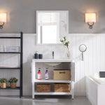 Lucca Modern 36″ Bathroom Vanity Set with Mirror Matte White