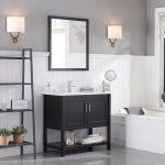 Lucca Modern 36″ Bathroom Vanity Set with Mirror Espresso