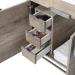 Shawbridge 24″ Modern Bathroom Vanity  Shadow Gray with Polished Chrome Hardware