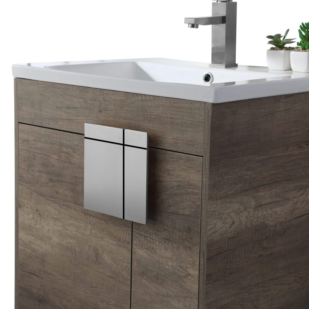 "Shawbridge 24"" Modern Bathroom Vanity  Shadow Gray with Polished Chrome Hardware"