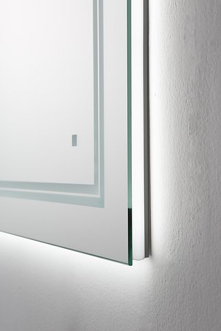AQUADOM Soho 24 inches x 36 inches Led Lighted Silver Mirror for Bathroom