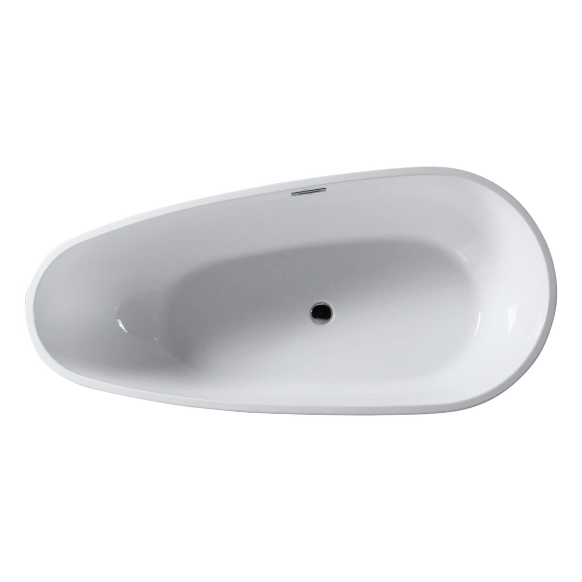 "Capsule 55""  Freestanding White Bathtub"