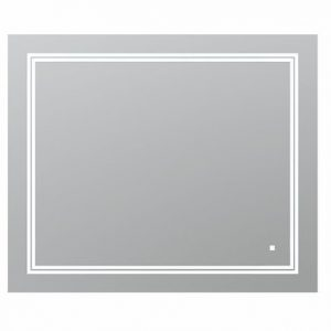 AQUADOM Soho 36 inches x 30 inches Led Lighted Silver Mirror for Bathroom