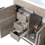 Shawbridge 48″ Modern Single Bathroom Vanity  Shadow Gray with Polished Chrome Hardware