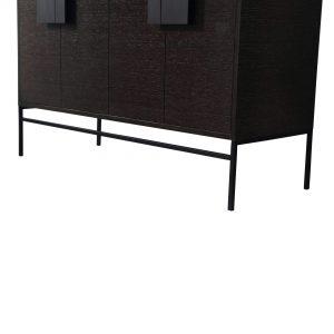 "Shawbridge 48"" Modern Single Bathroom Vanity  Black Oak Straight Grain with Black Hardware"
