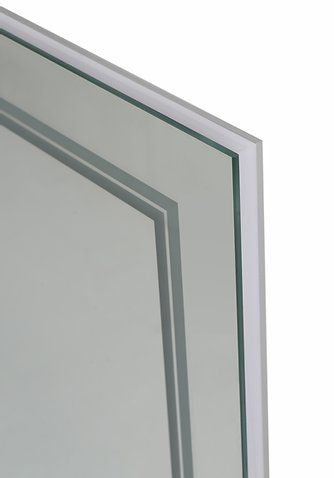 AQUADOM Soho 48 inches x 30 inches Led Lighted Silver Mirror for Bathroom