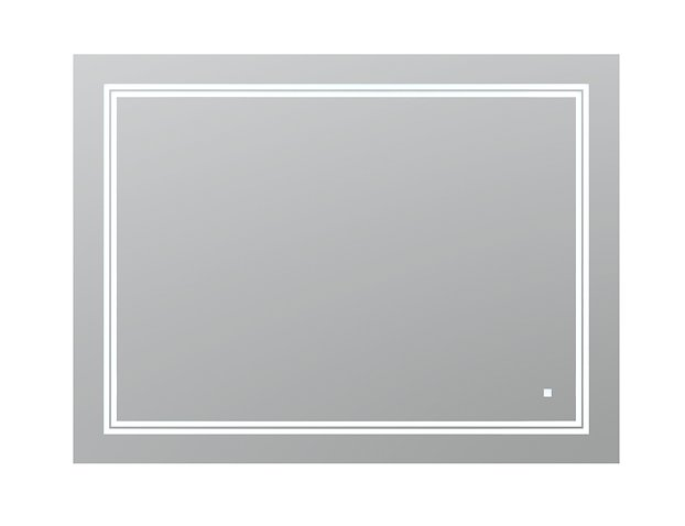 AQUADOM Soho 48 inches x 36 inches Led Lighted Silver Mirror for Bathroom