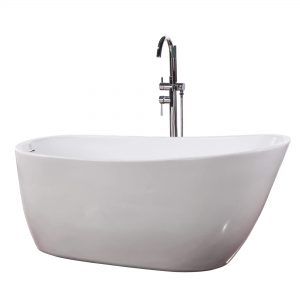 "Zen 59""  Freestanding White Bathtub"