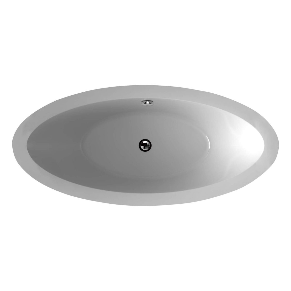 "Hudson 64""  Freestanding White Bathtub"