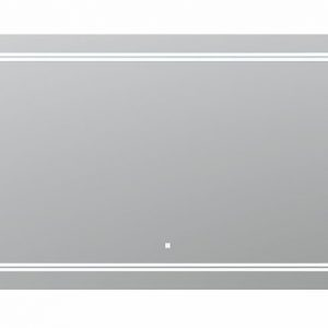 AQUADOM Soho 60 inches x 36 inches Led Lighted Silver Mirror for Bathroom
