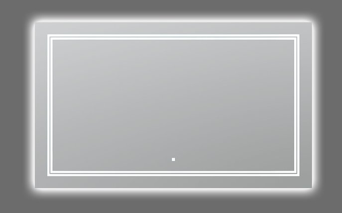 AQUADOM Soho 72 inches x 36 inches Led Lighted Silver Mirror for Bathroom