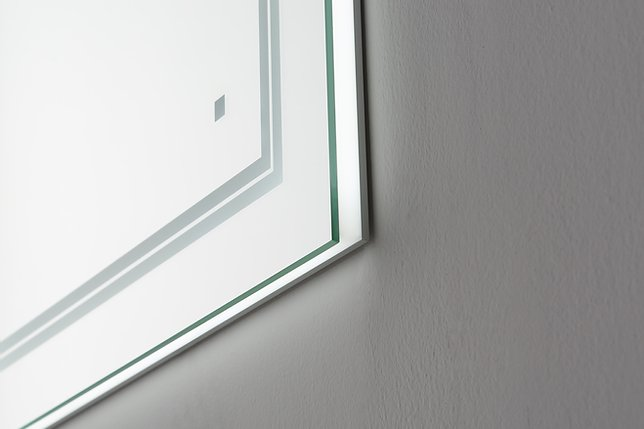 AQUADOM Soho 84 inches x 36 inches Led Lighted Silver Mirror for Bathroom